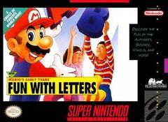 Marios Early Years Fun with Letters    SUPER NINTENDO ENTERTAINMENT SYSTEM