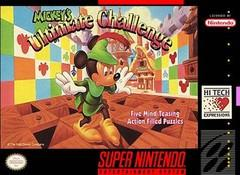 Mickeys Ultimate Challenge DMG LABEL    SUPER NINTENDO ENTERTAINMENT SYSTEM