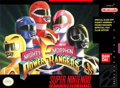 Mighty Morphin Power Rangers DMG LABEL    SUPER NINTENDO ENTERTAINMENT SYSTEM