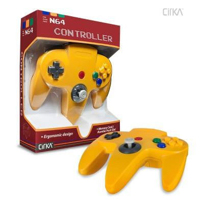 N64 Controller (Yellow) (CirKa)    RETRO NEW CONTROLLER