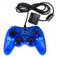 PS2 Wired Controller Clear Blue (TTX)    PLAYSTATION 2 NEW CONTROLLER