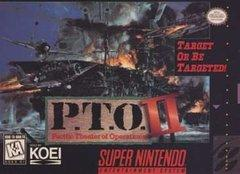 PTO Pacific Theater of Operations II BOXED COMPLETE    SUPER NINTENDO ENTERTAINMENT SYSTEM