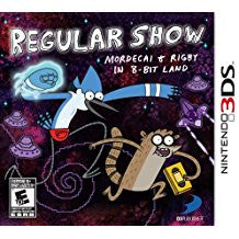 Regular Show Mordecai and Rigby in 8 Bit Land    NINTENDO 3DS