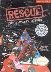 Rescue The Embassy Mission DMG LABEL    NINTENDO ENTERTAINMENT SYSTEM