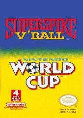 2 in 1 Super Spike VBall World Cup Soccer DMG LABEL    NINTENDO ENTERTAINMENT SYSTEM