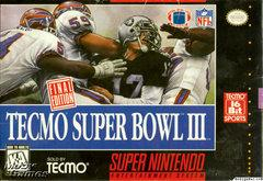Tecmo Super Bowl 3 BOXED COMPLETE    SUPER NINTENDO ENTERTAINMENT SYSTEM