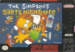 Barts Nightmare BOXED COMPLETE    SUPER NINTENDO ENTERTAINMENT SYSTEM