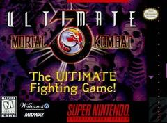 Ultimate Mortal Kombat 3 DMG LABEL    SUPER NINTENDO ENTERTAINMENT SYSTEM