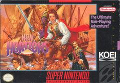 Uncharted Waters New Horizons DMG LABEL    SUPER NINTENDO ENTERTAINMENT SYSTEM
