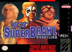WCW SuperBrawl Wrestling DMG LABEL    SUPER NINTENDO ENTERTAINMENT SYSTEM
