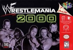 WWF WrestleMania 2000 DAMAGED LABEL    NINTENDO 64