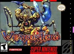 Weaponlord DMG LABEL    SUPER NINTENDO ENTERTAINMENT SYSTEM