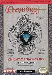 Wizardry II The Knight of Diamonds DMG LABEL    NINTENDO ENTERTAINMENT SYSTEM