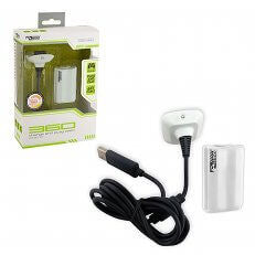 XB3 Charge and Play White (KMD)    XBOX 360 NEW ACCESSORY