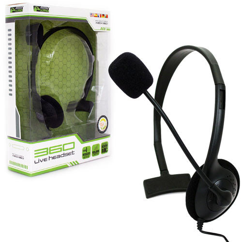 XB3 Wired LiveChat Headset Black (KMD)    XBOX 360 NEW HEADSET