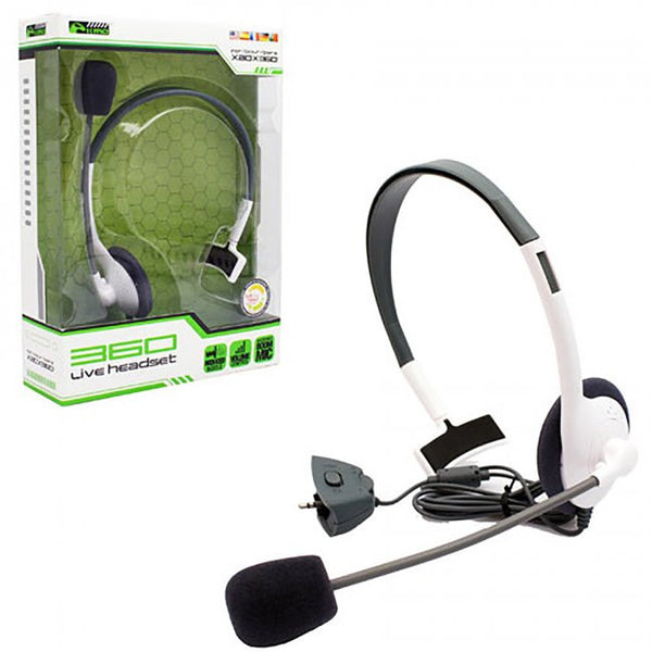 XB3 Wired LiveChat Headset White (KMD)    XBOX 360 NEW HEADSET