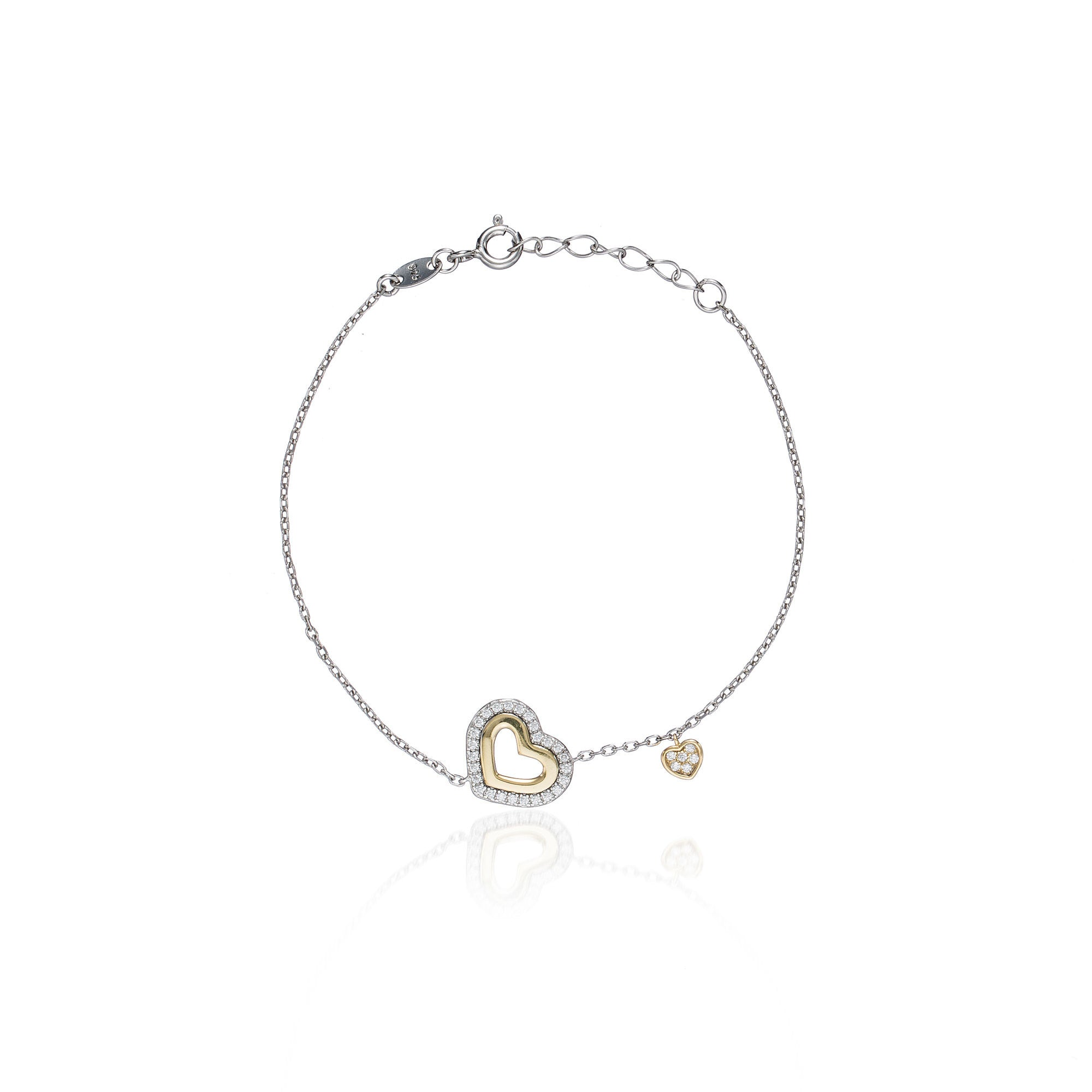 alkemistry rose bracelet heart gold shop by diamond kismet the share milka