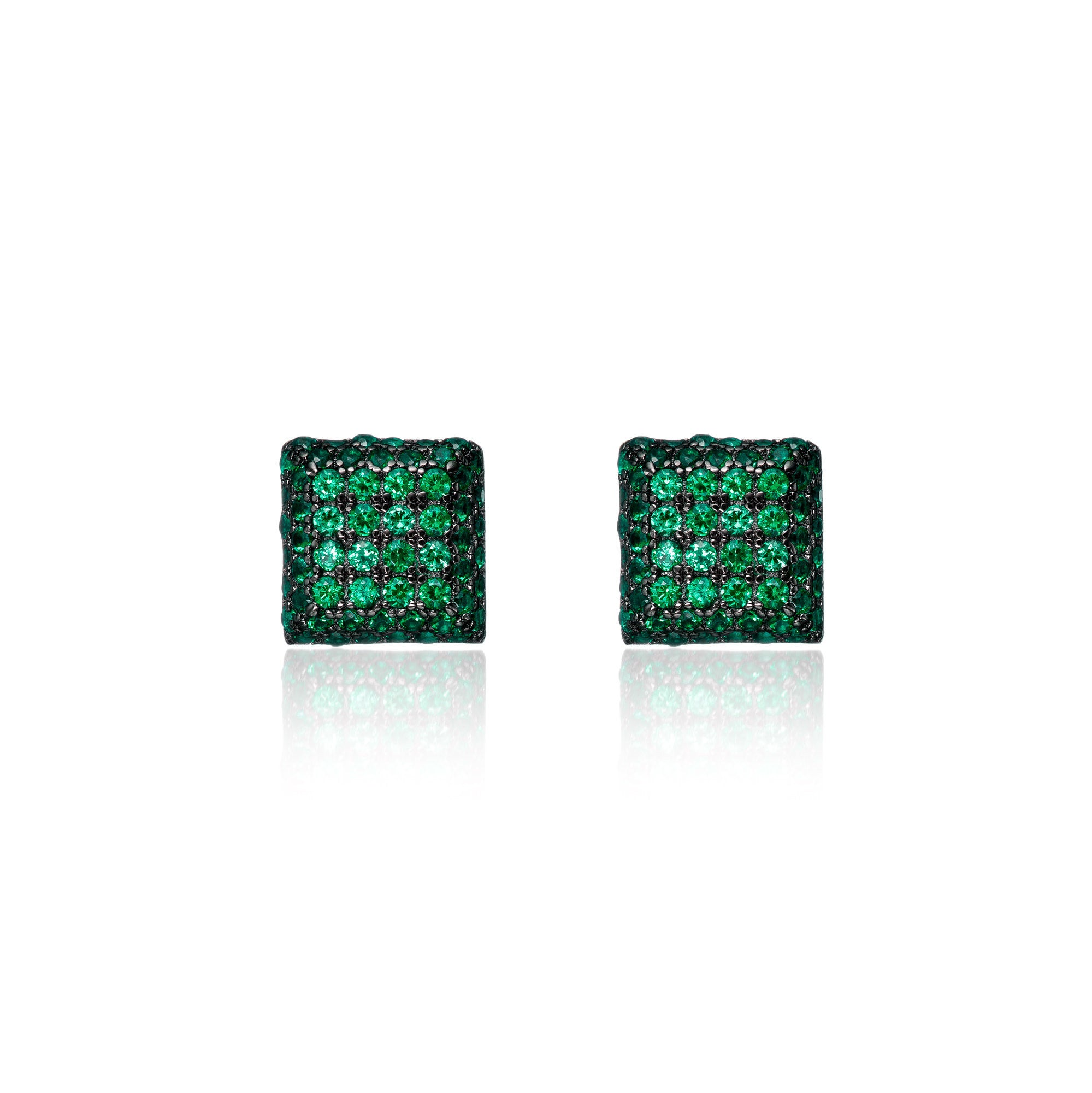 Majestic Emerald Clustered Studs