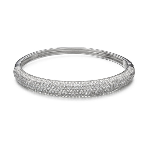 Bright Bliss Silver Bangle
