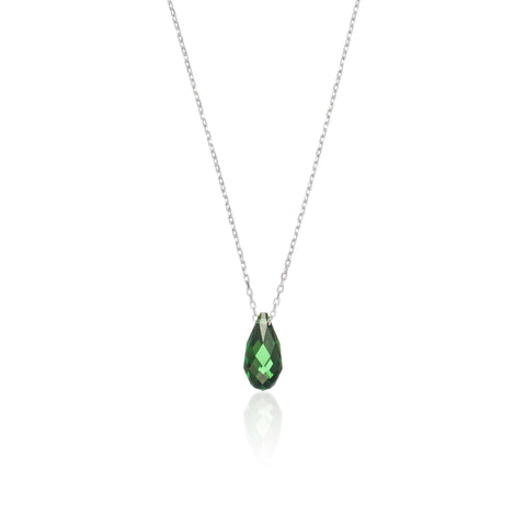 Green Crystal Drop Necklace