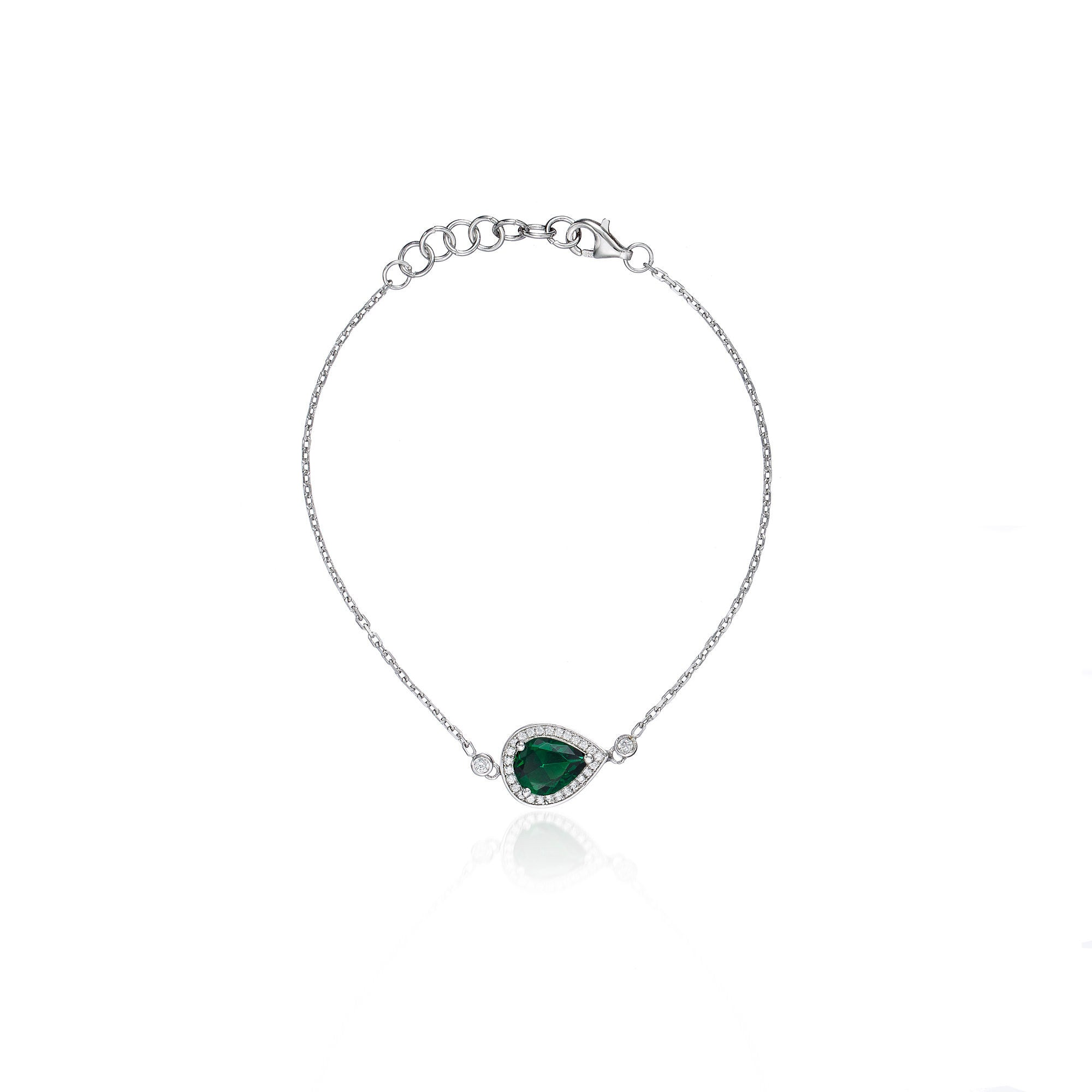 emerald charm created pendant stone dancing product necklace diamond centres