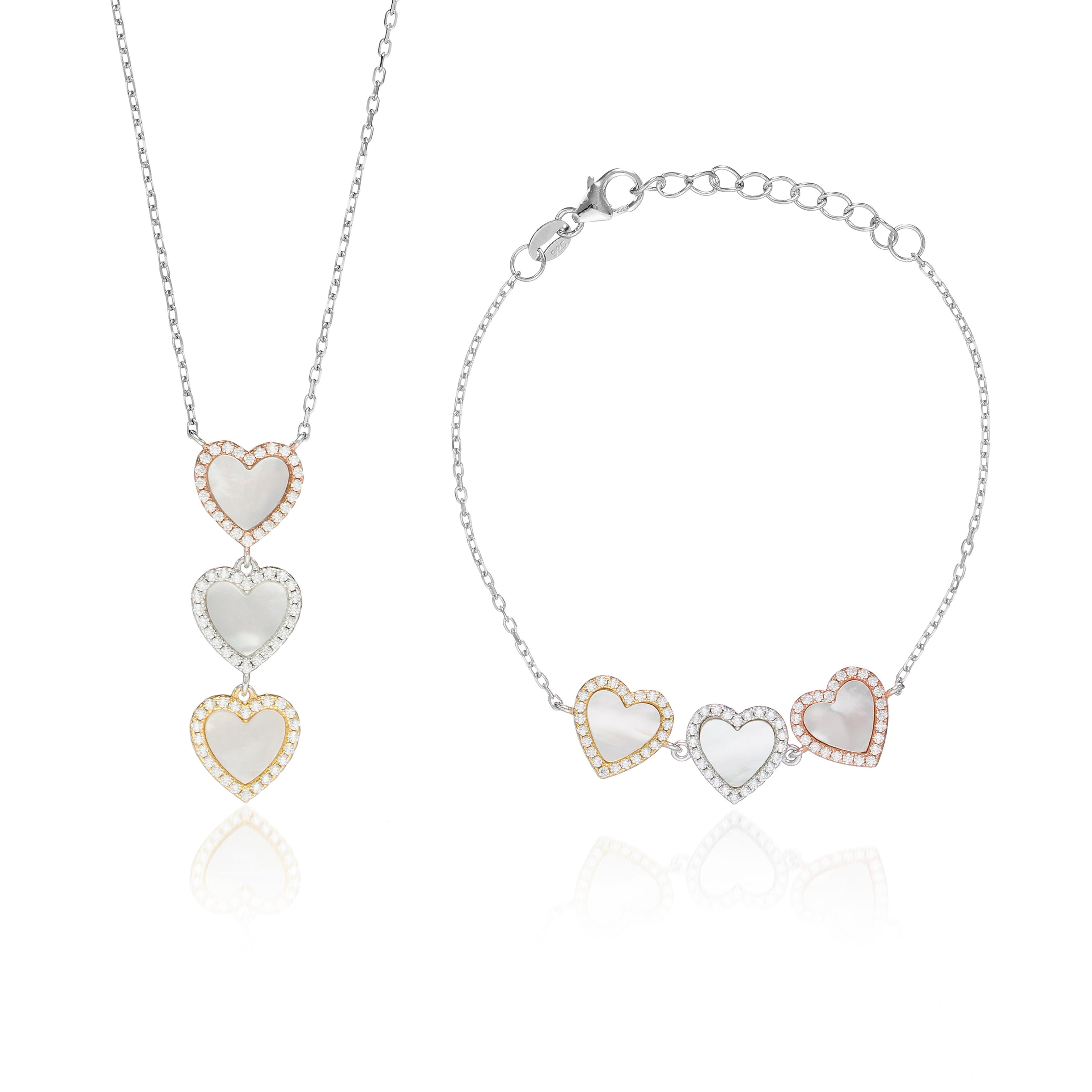 "Mother of Pearl 'Heart You"" Set"