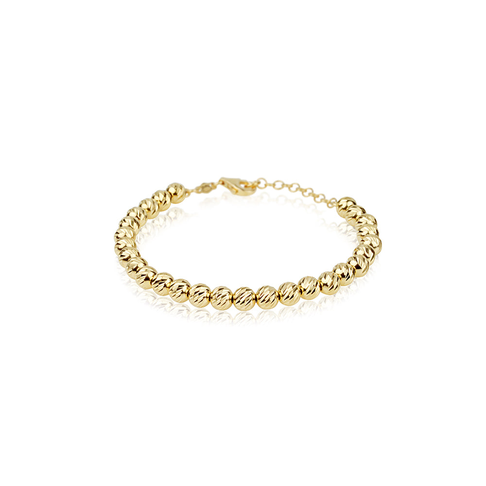 gold elements bracelet rose diamond bead adjustable cut