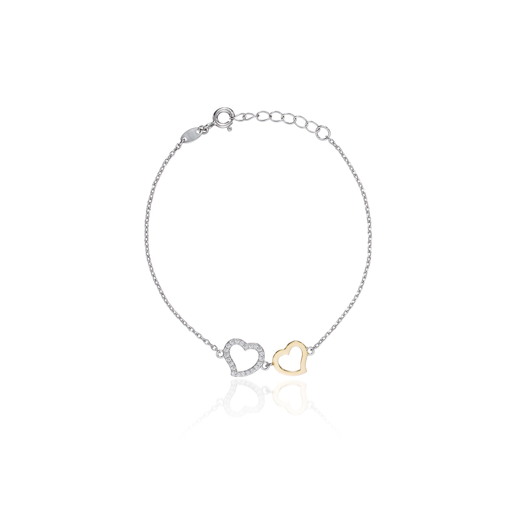 jewellery merivale img single heart double petersens store product bracelet jewellers