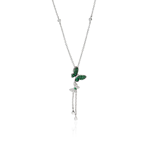 Enchanted Emerald Butterfly Necklace