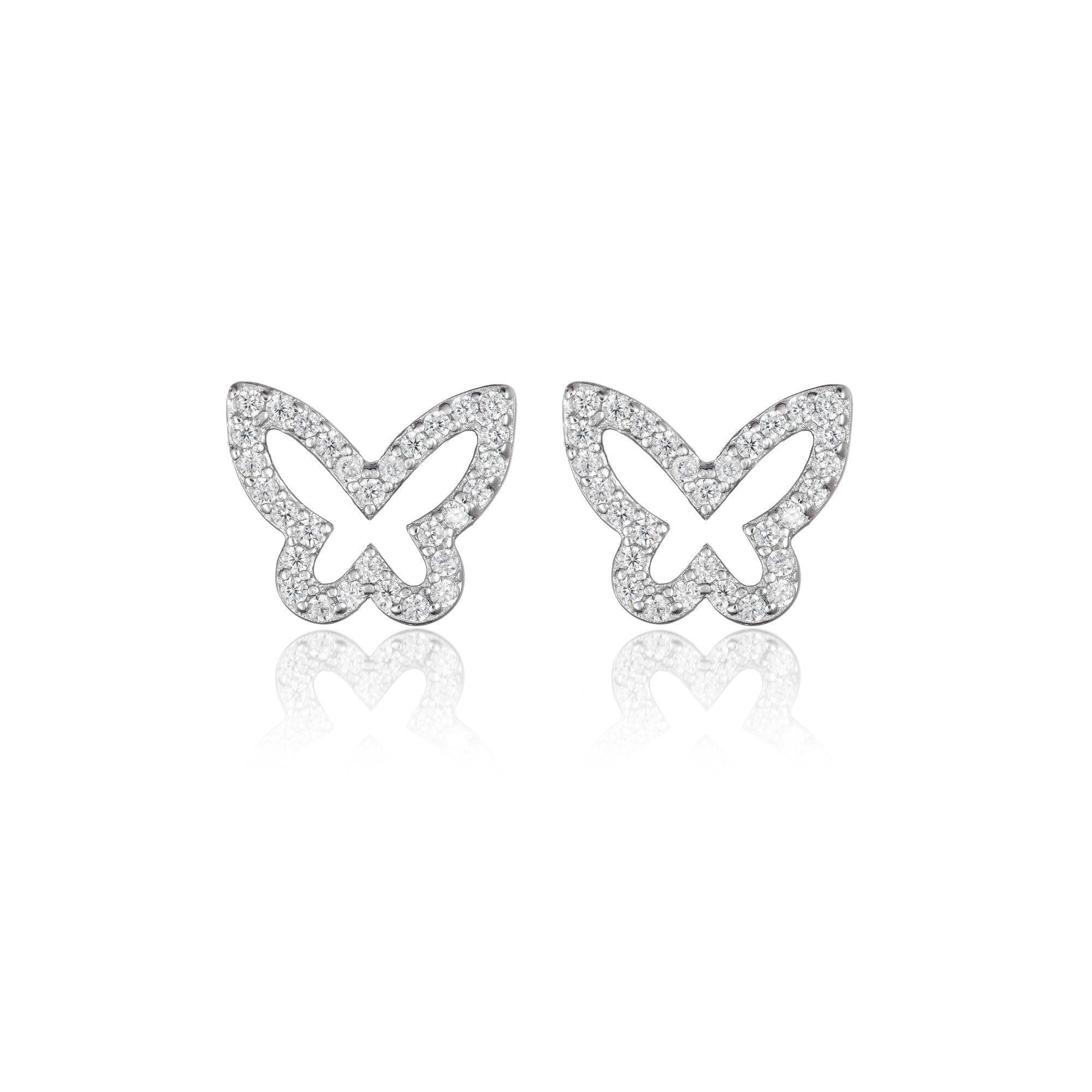 Zircon Encrusted Butterfly Earrings