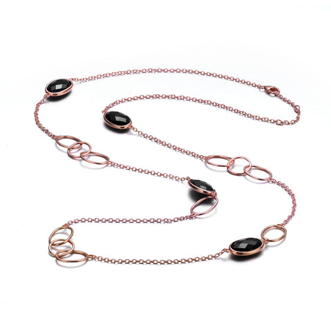 Celeste Black Necklace