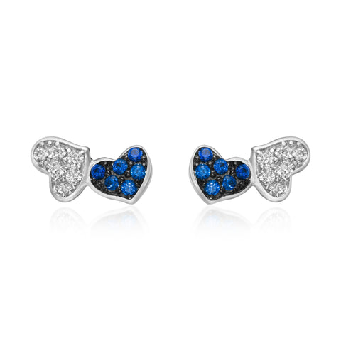 Mini Reflective Heart Studs
