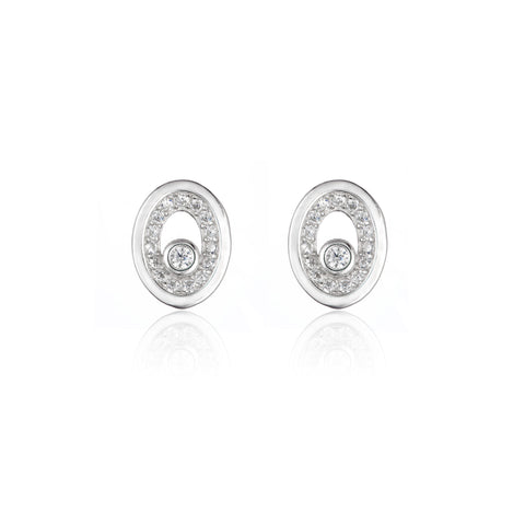 Embroidered Elliptical Studs