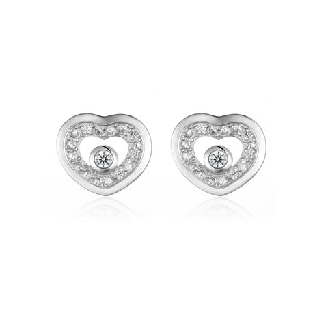 Clustered Heart Earrings