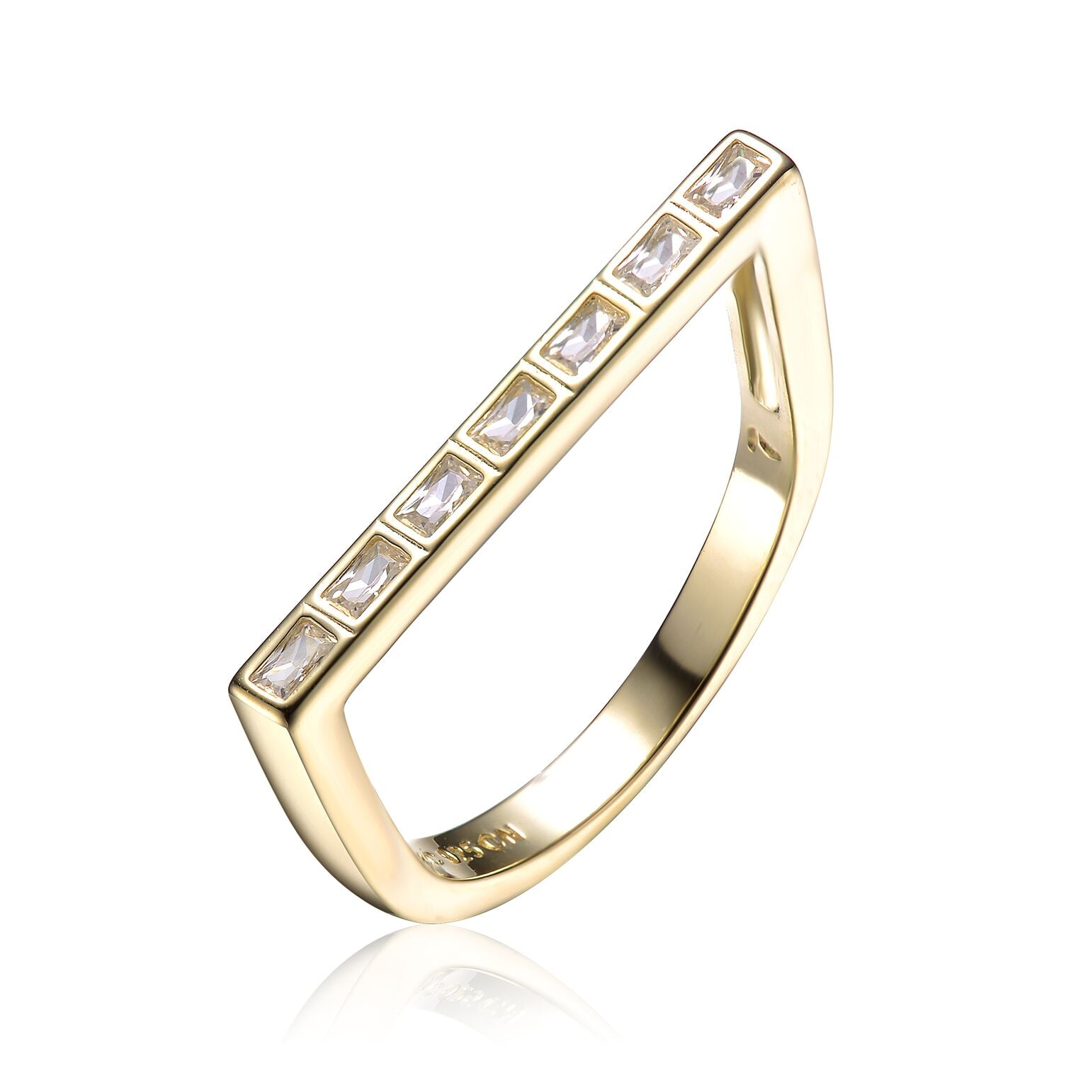 Baguette Statement Gold Ring
