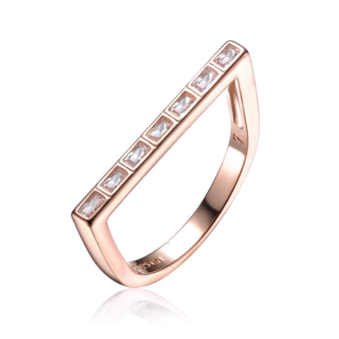 Baguette Statement Rosé Ring