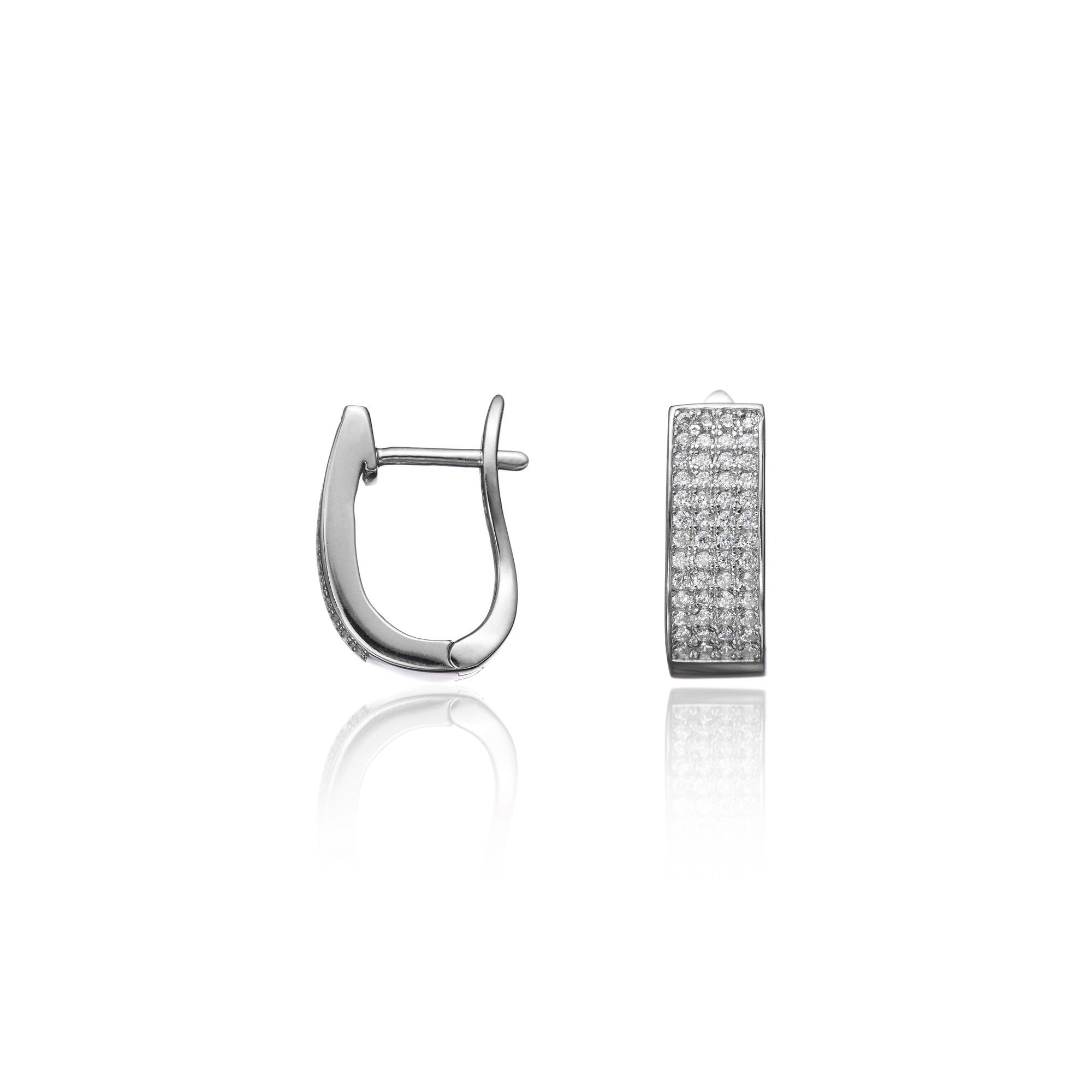 Lara Curved Hoop Earrings
