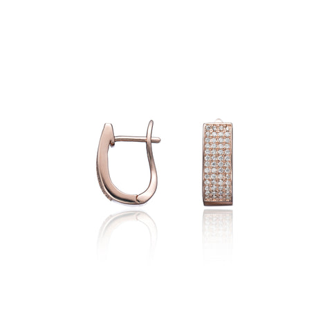 Lara Rose Gold Hoop Earrings