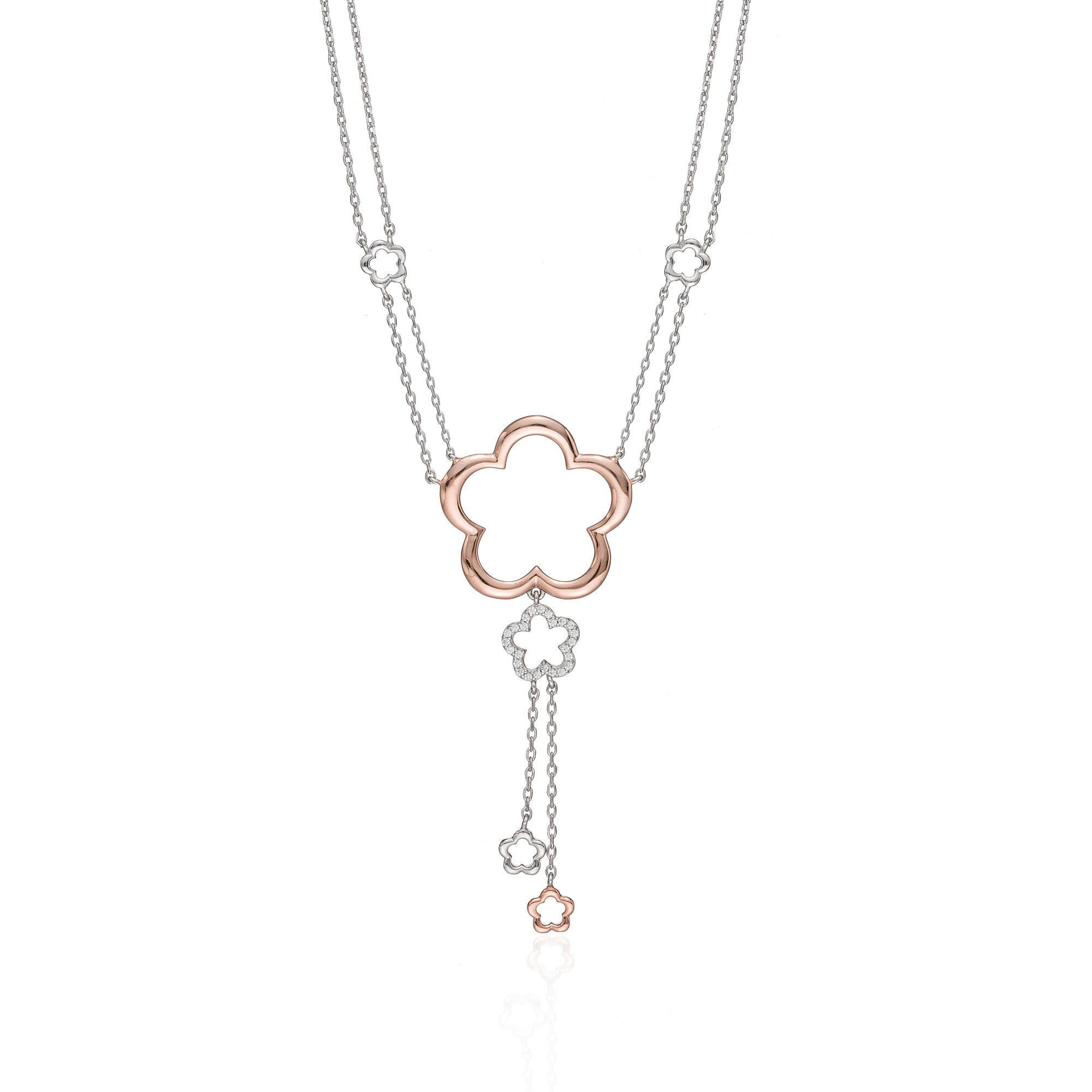Blooming Rosé Flower Necklace