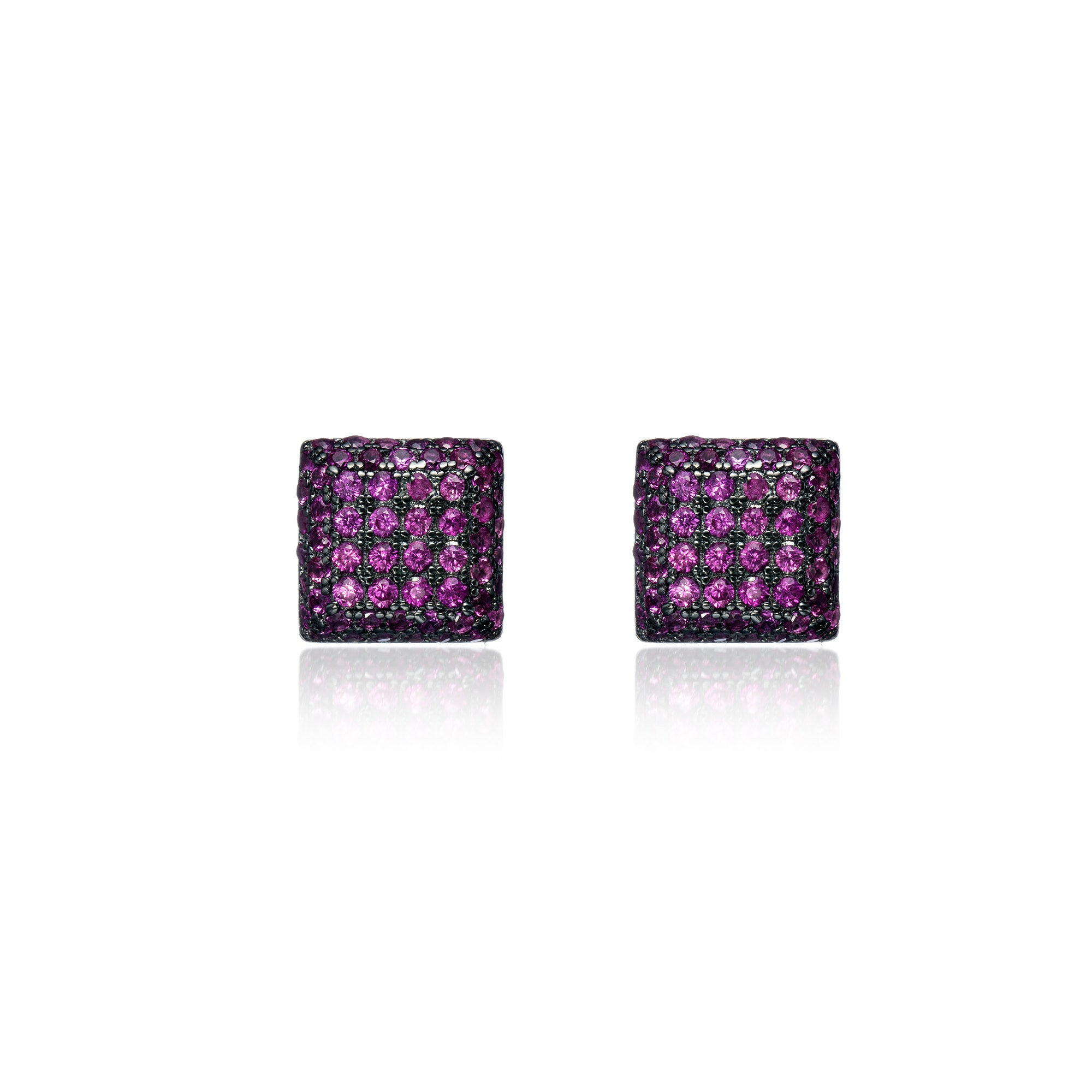 Majestic Ruby Clustered Studs