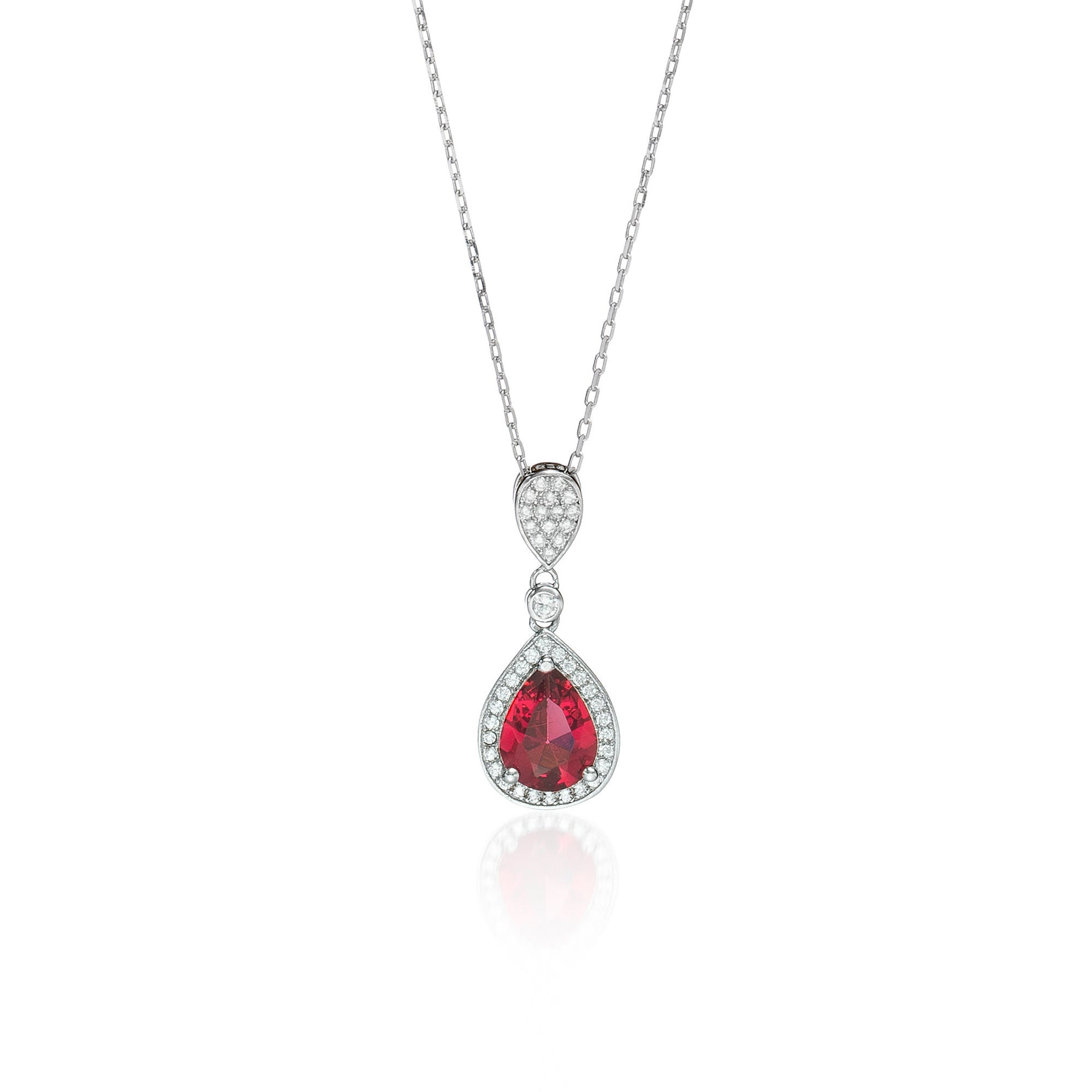 Sacred Ruby Teardrop Necklace