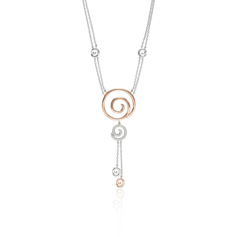 Swirl N' Twirl Rosé Necklace
