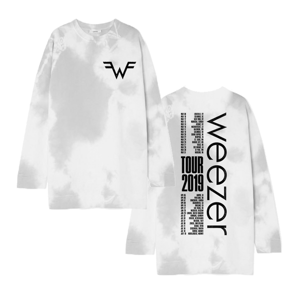 Grey Tie-Dye Long Sleeve Tour Tee