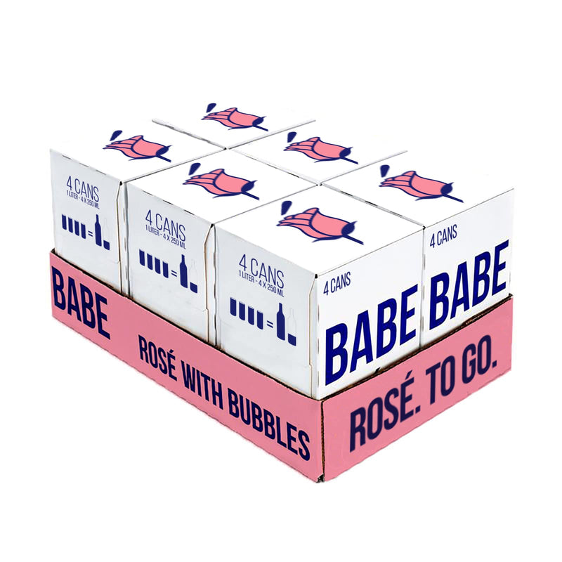 Babe Rosé with Bubbles - Case (24 Cans)
