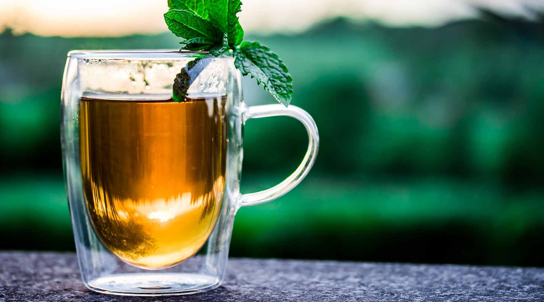 A delicious cup of peppermint herbal tea