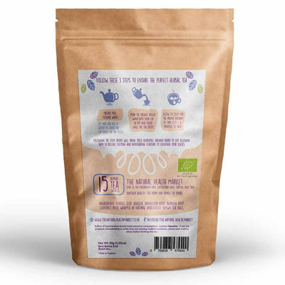 Organic daily detox tea - 15 herbal tea bags - by The Natural Health Market