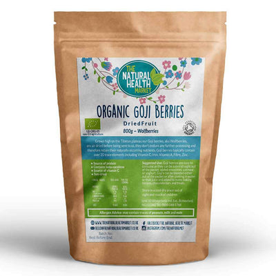 Organic Goji Berries 800g By The Natural Health Market