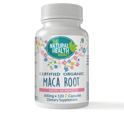 Organic Maca Root 120 Capsules By The Natural Health Market