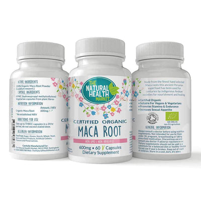 Organic Maca Root Capsules By The Natural Health Market