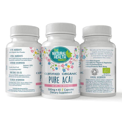 Pure Acai Berry 500mg Capsules